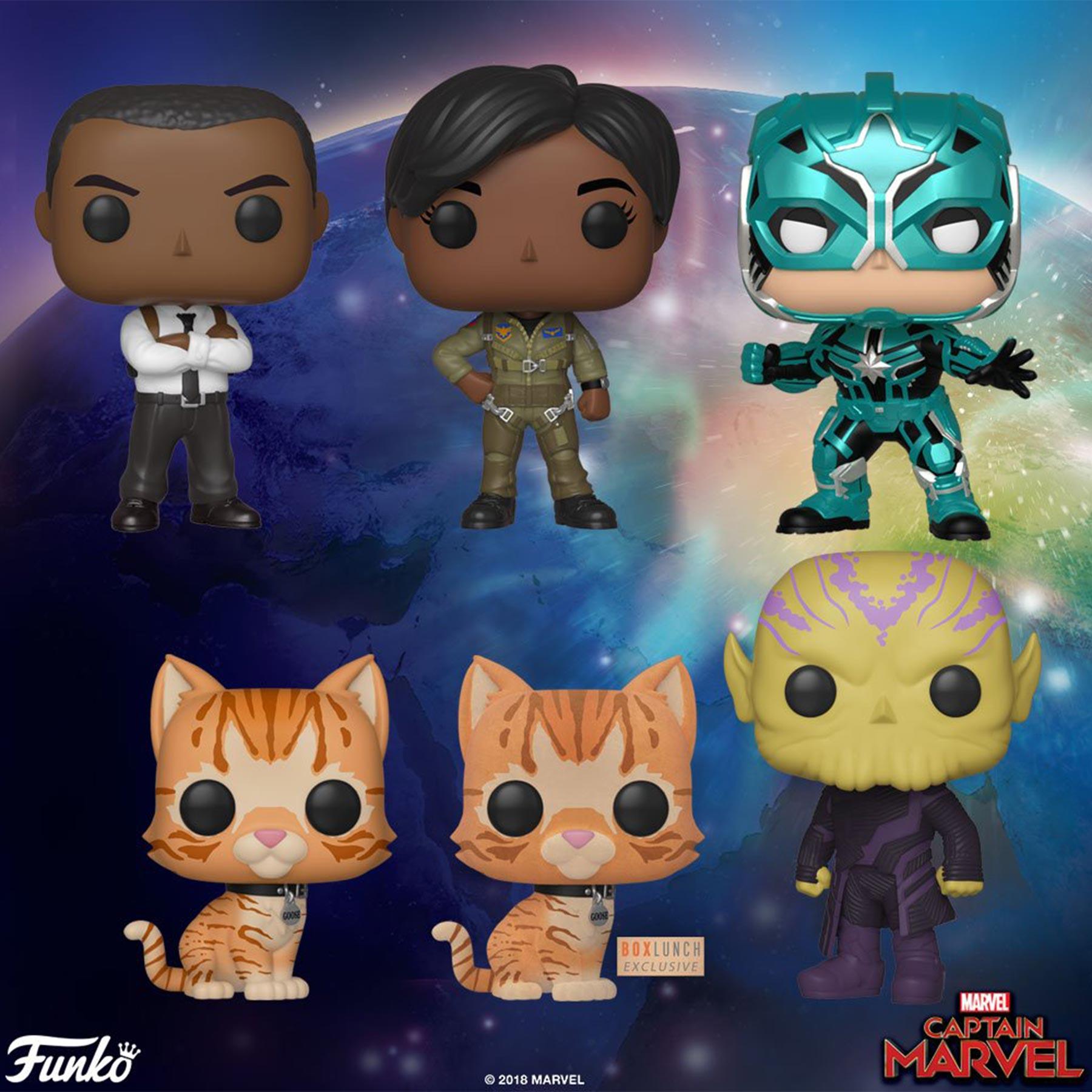 <em>Captain Marvel</em>Funko figures confirm Brie Larsons catty sidekick 11