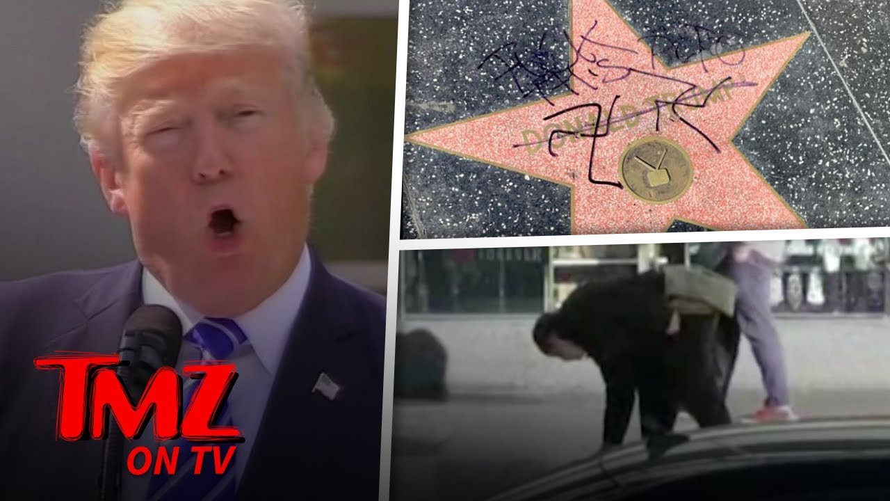 Donald Trump's Hollywood Walk of Fame Star Doused with Fake Blood, After Swastikas | TMZ TV 5