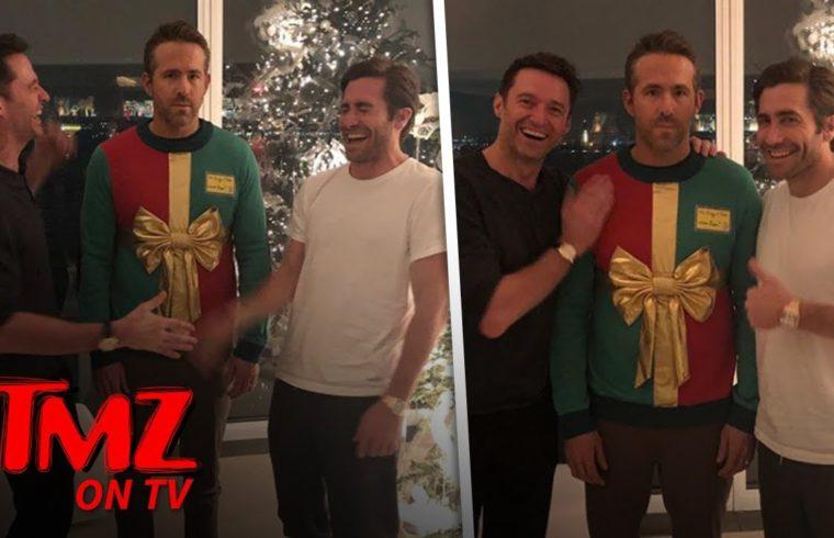 Hugh Jackman & Jake Gyllenhaal Play Ugly Prank On Ryan Reynolds   TMZ TV 1