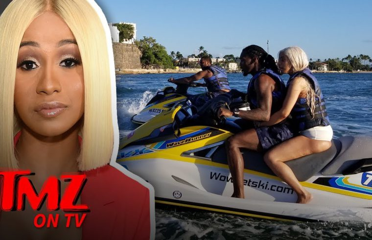 Cardi B and Offset Together on a Jet Ski in Puerto Rico!!!   TMZ TV 1