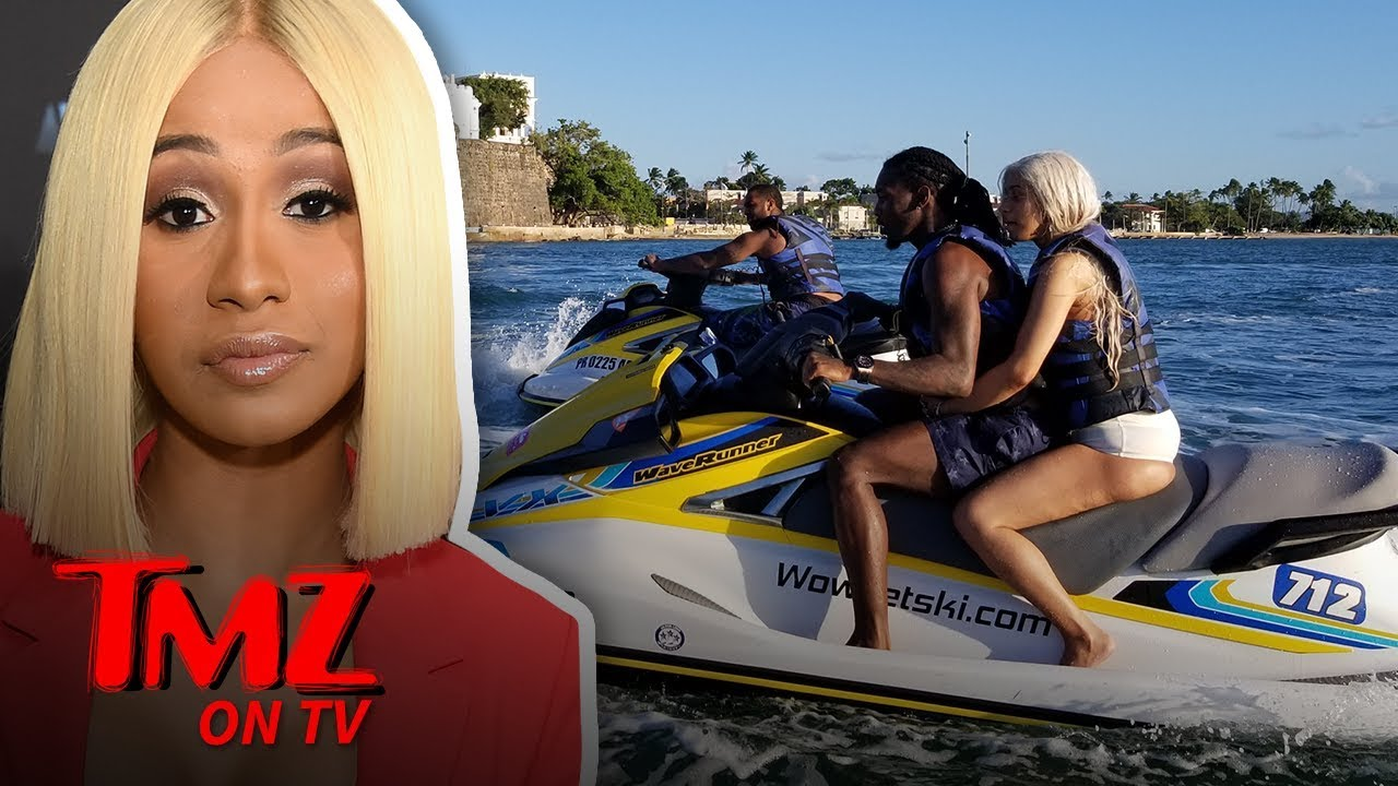 Cardi B and Offset Together on a Jet Ski in Puerto Rico!!! | TMZ TV 4
