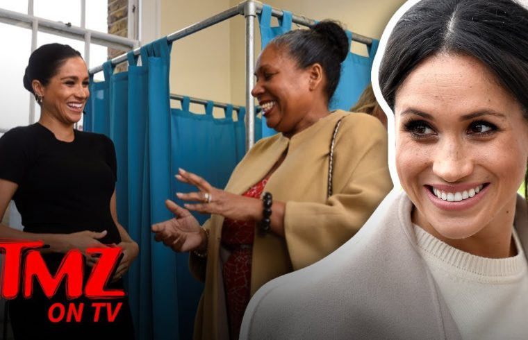 Meghan Markle Isn't Letting Her Belly Slow Her Down! | TMZ TV 1