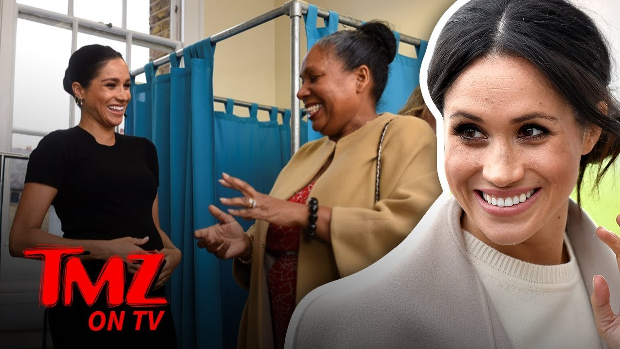 Meghan Markle Isn't Letting Her Belly Slow Her Down! | TMZ TV 5