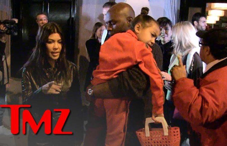 North West Dines at Fancy Restaurant with Aunt Kourtney Kardashian | TMZ 1
