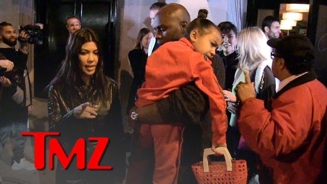 North West Dines at Fancy Restaurant with Aunt Kourtney Kardashian | TMZ 4