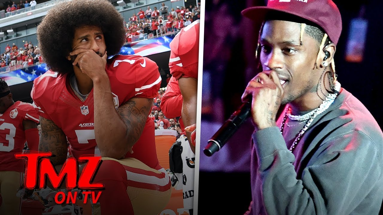 Colin Kaepernick and Travis Scott Super Bowl Deal Drama | TMZ TV 5