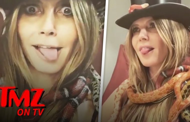 Heidi Klum Looks Hot While Covered In Snakes! | TMZ TV 1
