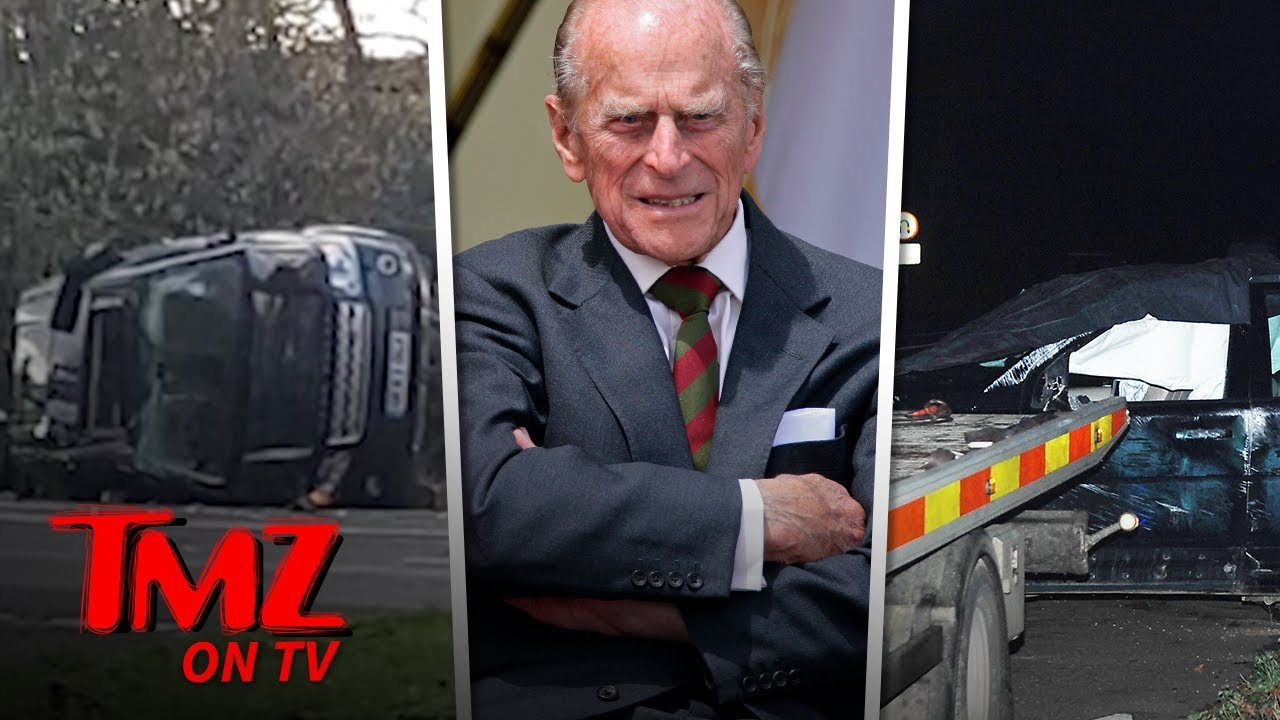 Prince Philip Flips His SUV in Crash & Police Give Him Breathalyzer Test | TMZ TV 4