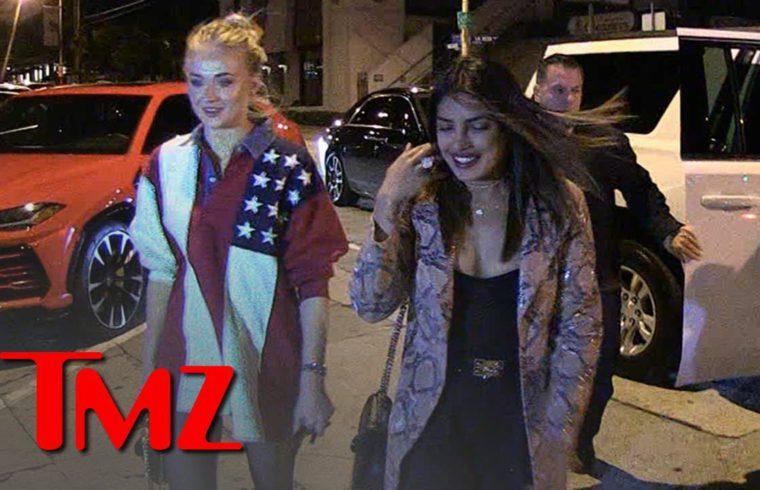 Priyanka Chopra & Sophie Turner Sister-in-Laws' Night Out w/o Jonas Bros.   TMZ 1
