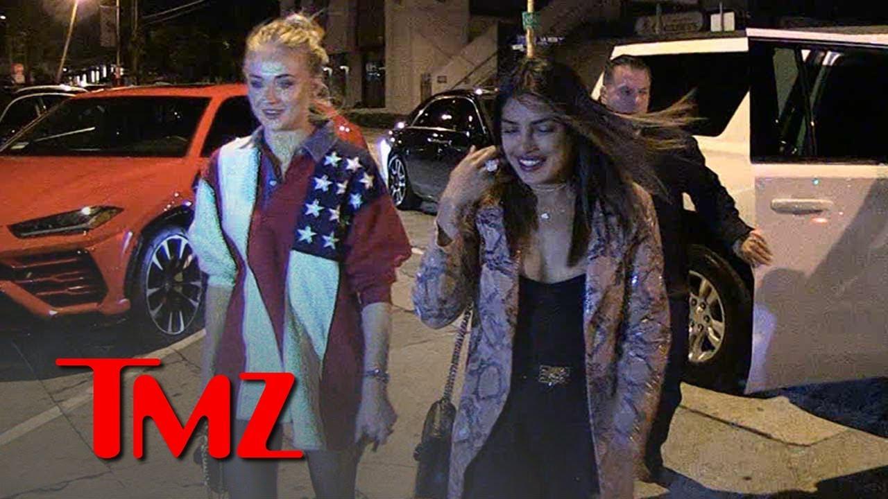 Priyanka Chopra & Sophie Turner Sister-in-Laws' Night Out w/o Jonas Bros. | TMZ 5
