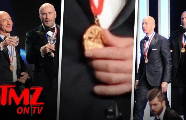 John Travolta & Jeff Bezos Are A Couple Of Bald Studs! | TMZ TV 1
