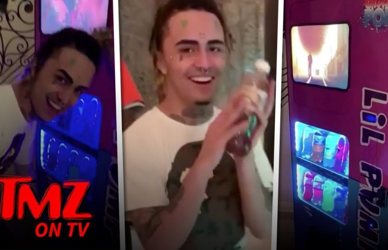 Lil Pump Scores $10k Custom Soda Machine from Exotic Pop | TMZ TV 1