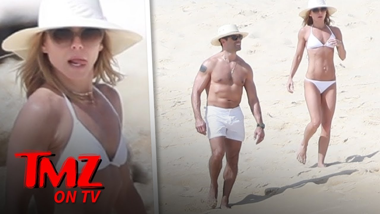 Kelly Ripa and Mark Consuelos Show Off Hard Bods in Mexico | TMZ TV 5