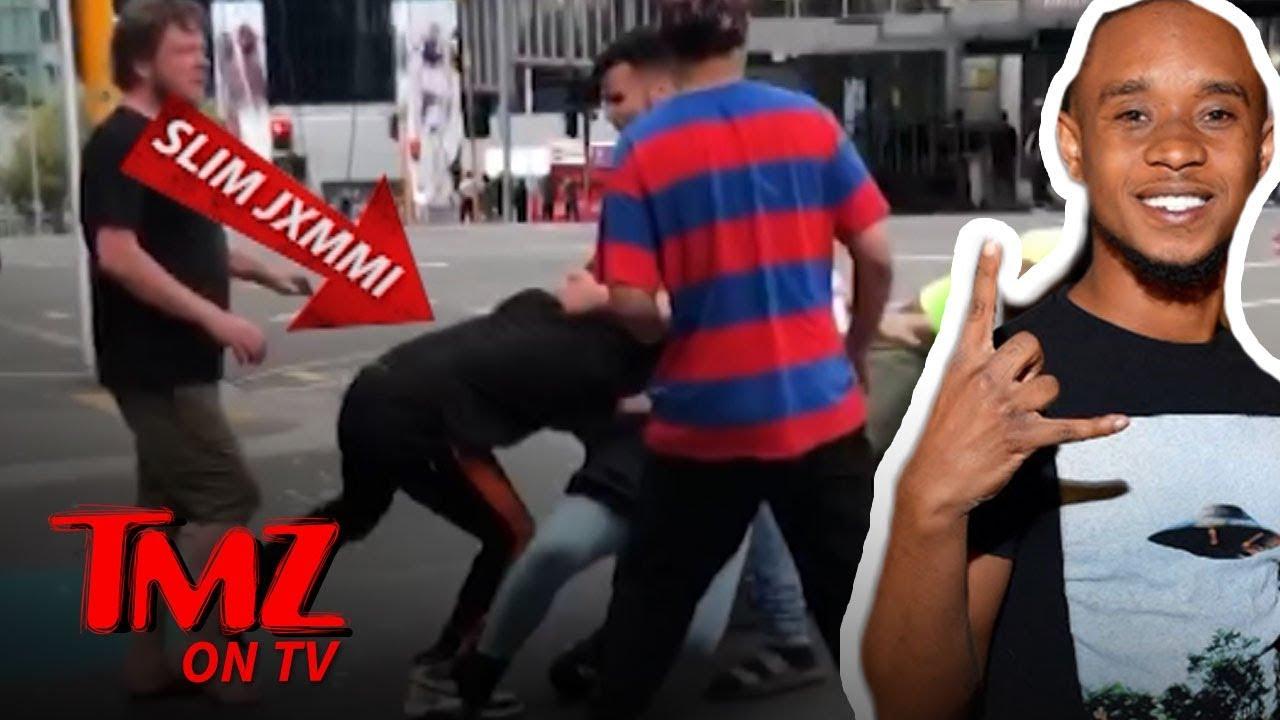 Rapper Involved In Huge Street Brawl! | TMZ TV 2