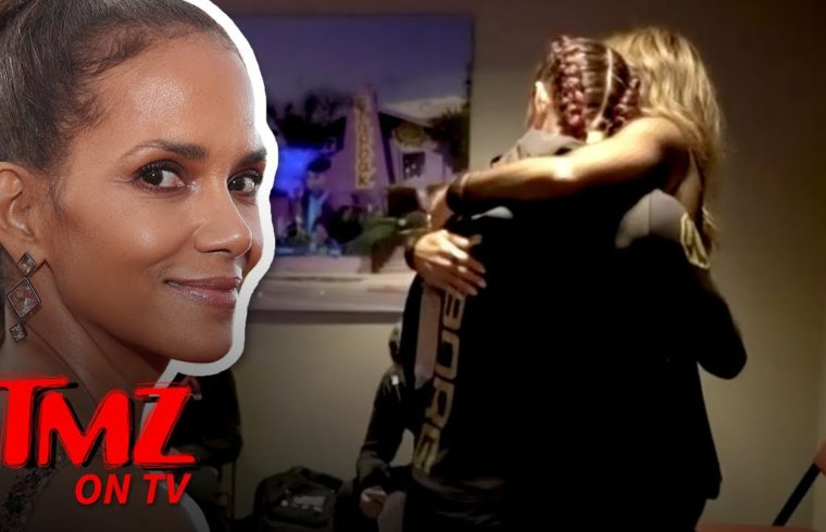Halle Berry Consoled Cyborg In Locker Room After UFC 232 Loss | TMZ TV 1