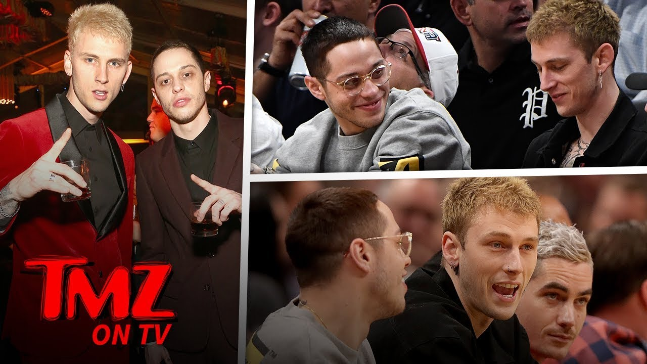 Pete Davidson and Machine Gun Kelly Chill Together at Denver Nuggets Game | TMZ TV 4