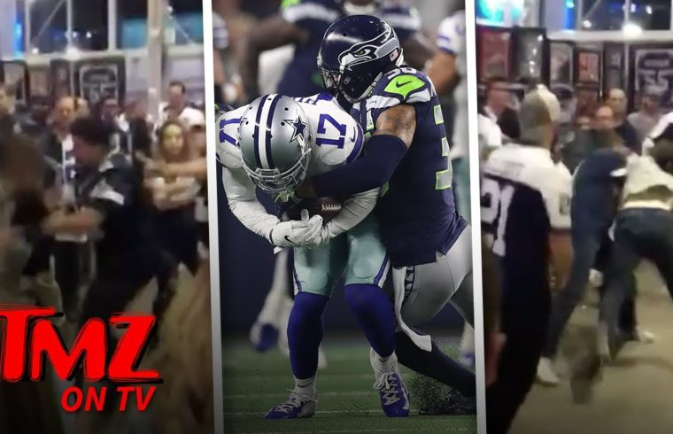 Brawl Breaks Out After Seahawks Vs  Cowboys Game! | TMZ TV 1