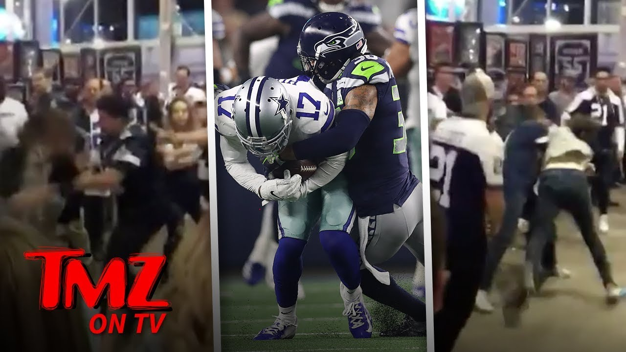 Brawl Breaks Out After Seahawks Vs  Cowboys Game! | TMZ TV 4