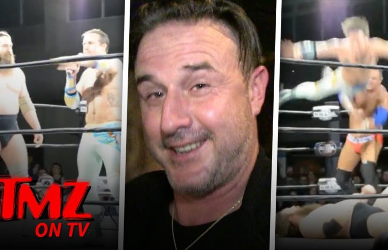 David Arquette Scalps Opponents Head After Winning NWA Wrestling Match | TMZ TV 1