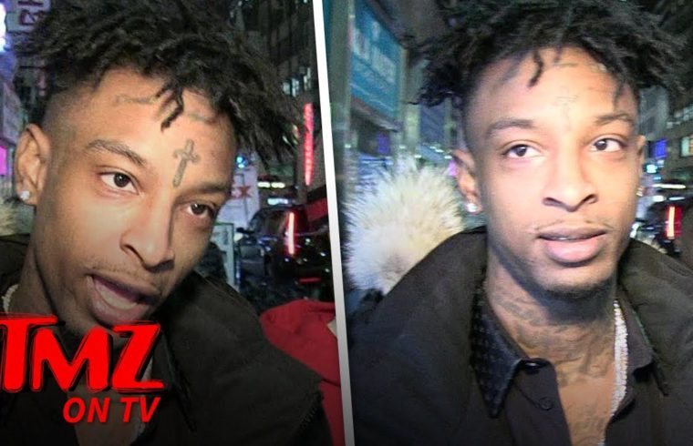 21 Savage Thinks He Was Arrested For Lyrics In His Song 'A Lot' | TMZ TV 1