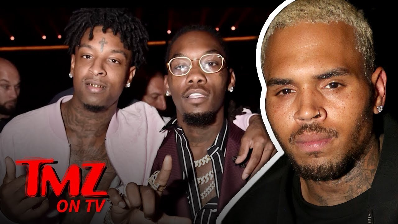 Chris Brown Starts Beef With Offset Over 21 Savage Jokes | TMZ TV 3