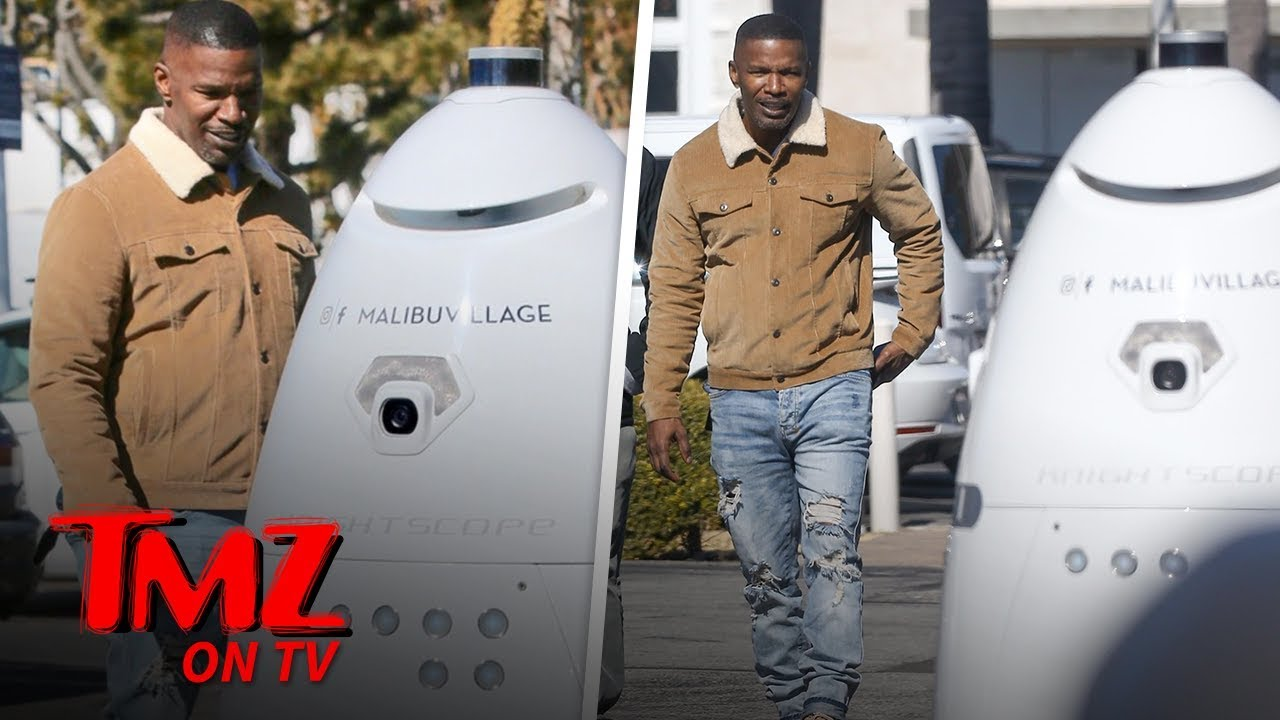 Jamie Foxx Amazed By Weird Robot Security | TMZ TV 5