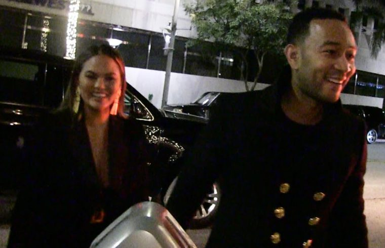 Chrissy Teigen and John Legend Won't Be Eating Pizza with AOC During Grammys 1