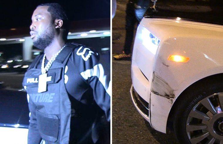 Meek Mill's Rolls-Royce Phantom Gets in Accident at L.A. Nightclub 1