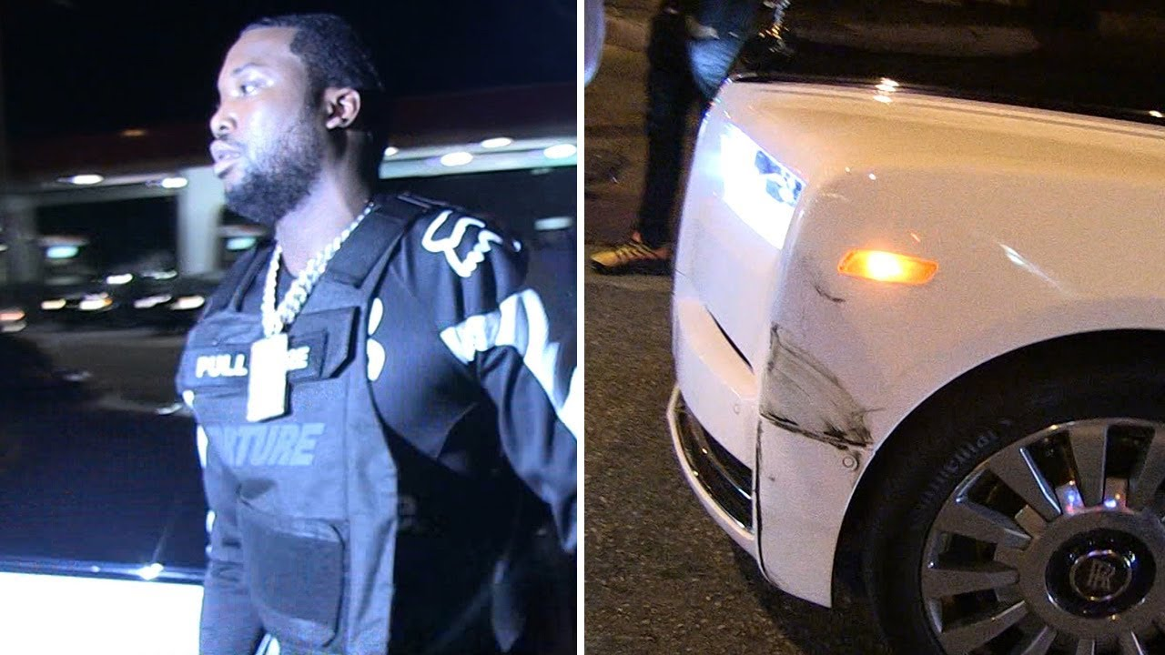 Meek Mill's Rolls-Royce Phantom Gets in Accident at L.A. Nightclub 3
