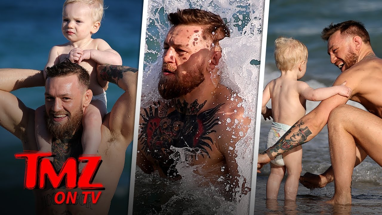 Conor McGregor Has A Fun Beach Day With His Son! | TMZ TV 4
