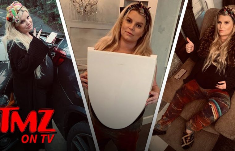 Jessica Simpson Is Having A Hard Time With Being Fat Becuase She's Pregnant | TMZ TV 1