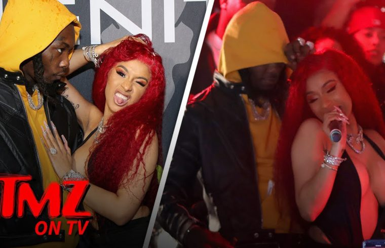 Cardi B Grinds Up On Offset While Performing | TMZ TV 1