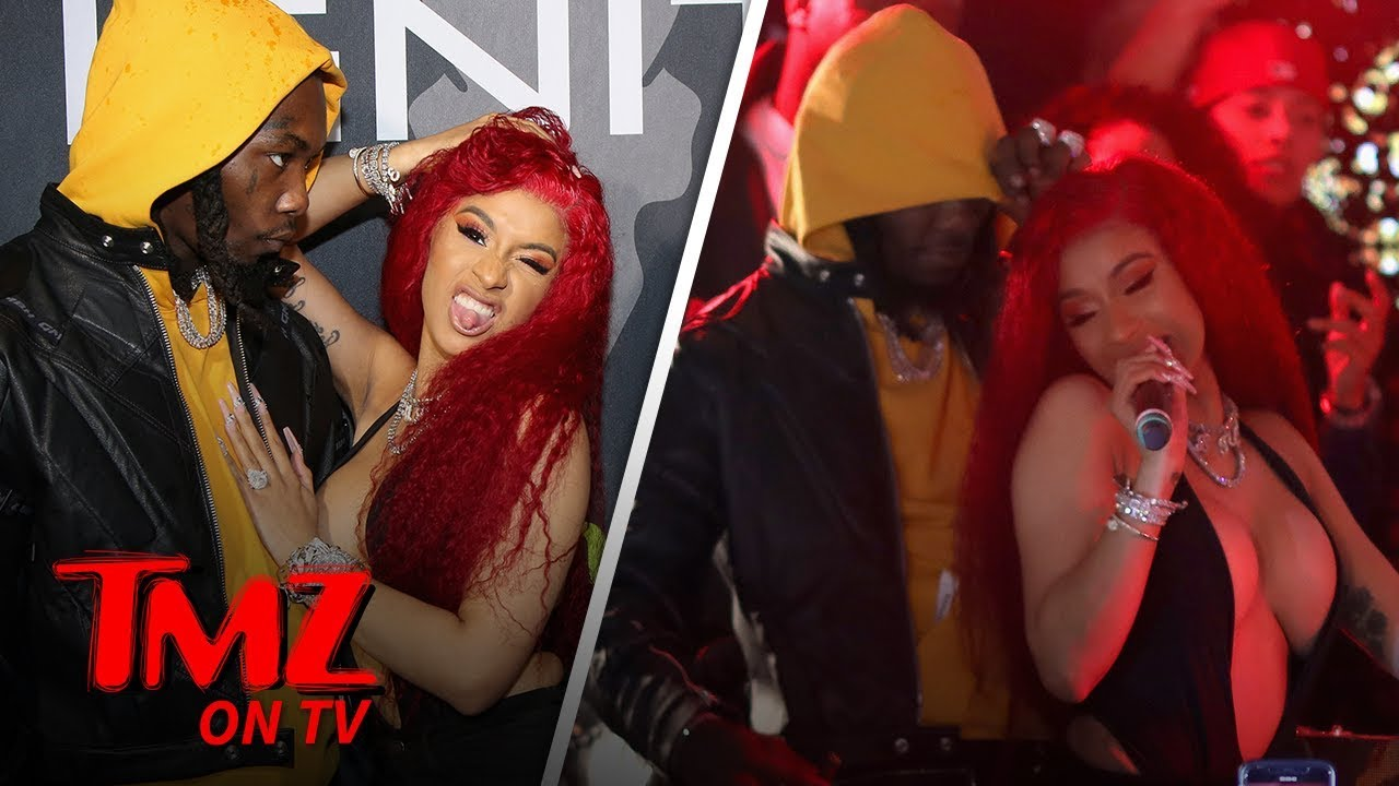 Cardi B Grinds Up On Offset While Performing | TMZ TV 5
