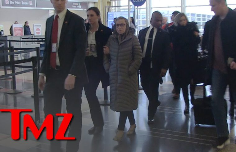 Ruth Bader Ginsburg Talks About Her Post Surgery Condition at Reagan Airport | TMZ 1