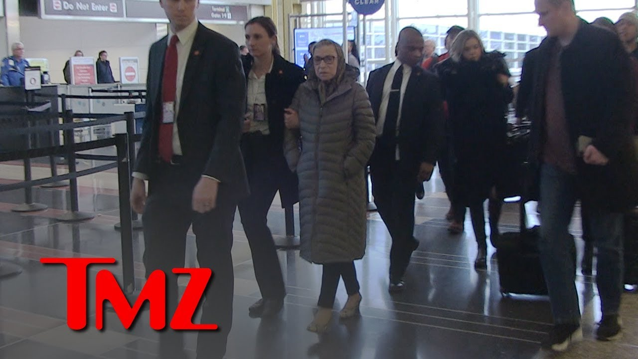 Ruth Bader Ginsburg Talks About Her Post Surgery Condition at Reagan Airport | TMZ 5