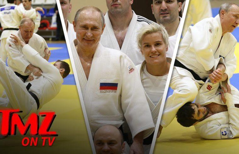 Vladimir Putin Hits the Judo Mats with Russian Olympic Babe | TMZ TV 1