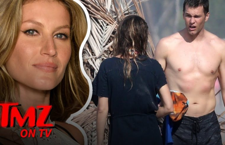 Tom Brady & Gisele Look INCREDIBLE On The Beach | TMZ TV 1
