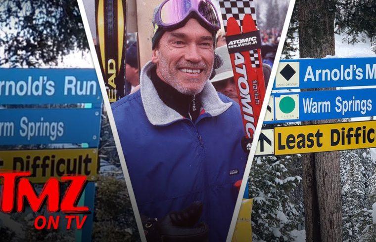 Arnold Schwarzenegger Pranked with 'Arnold's Maid' Ski Run in Idaho | TMZ TV 1