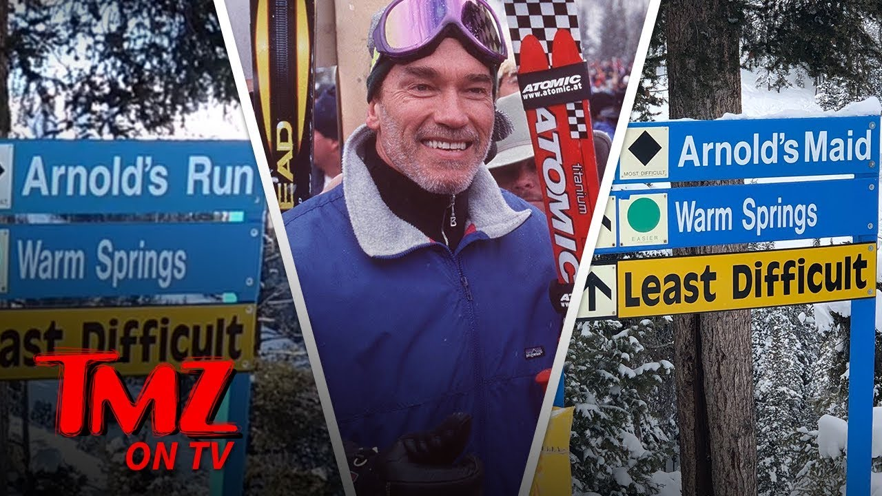 Arnold Schwarzenegger Pranked with 'Arnold's Maid' Ski Run in Idaho | TMZ TV 1