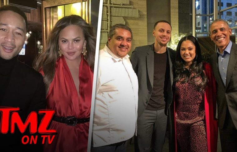 Barack Obama Eats at Ayesha Curry's Restaurant with Steph, Chrissy & John Legend | TMZ TV 1