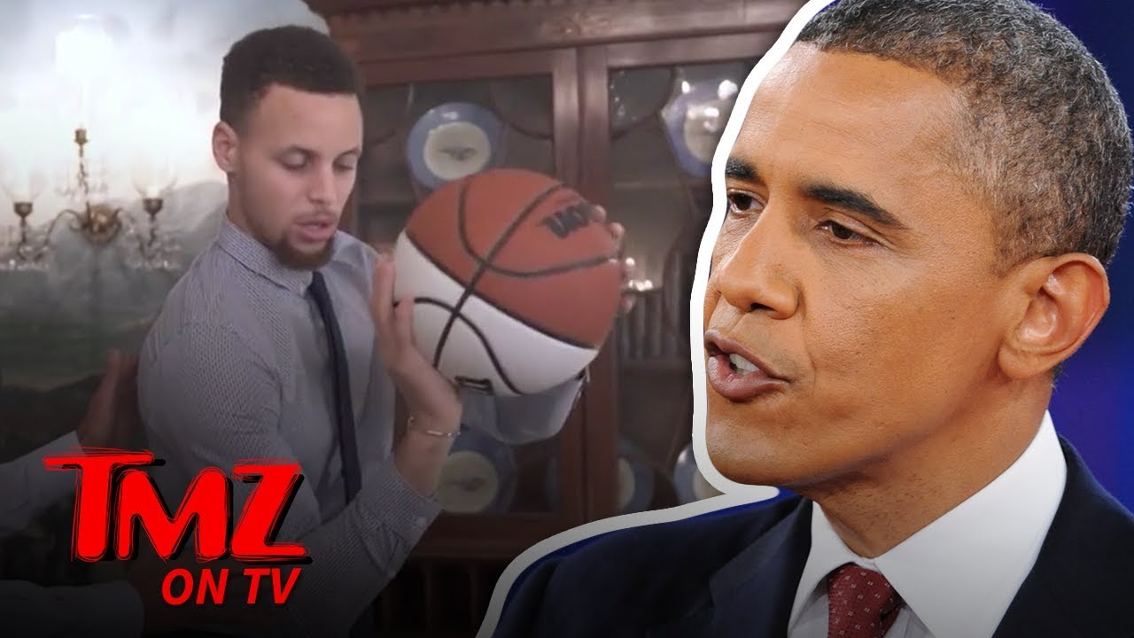 Barack Obama Takes Credit For Steph Curry's Lethal Jump Shot | TMZ TV 5