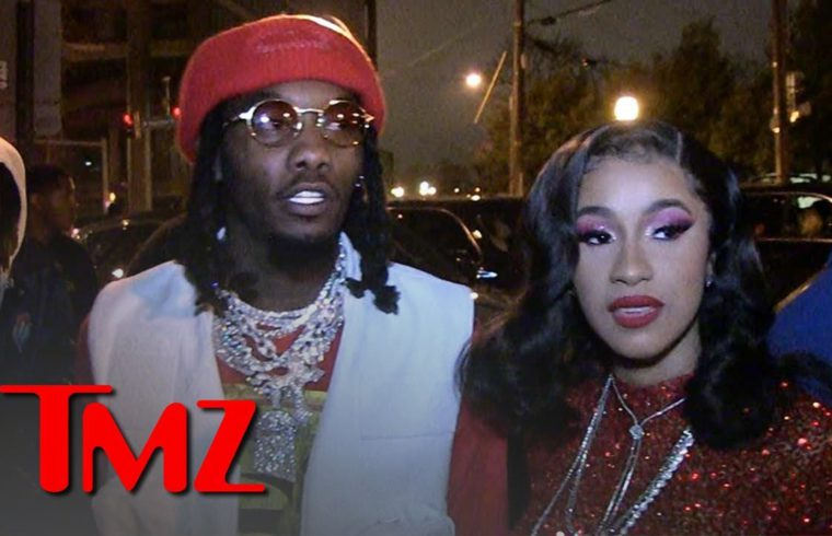 Offset, Cardi B Floss Diamonds Hitting Up 'Father of 4' Album Release Party | TMZ 1