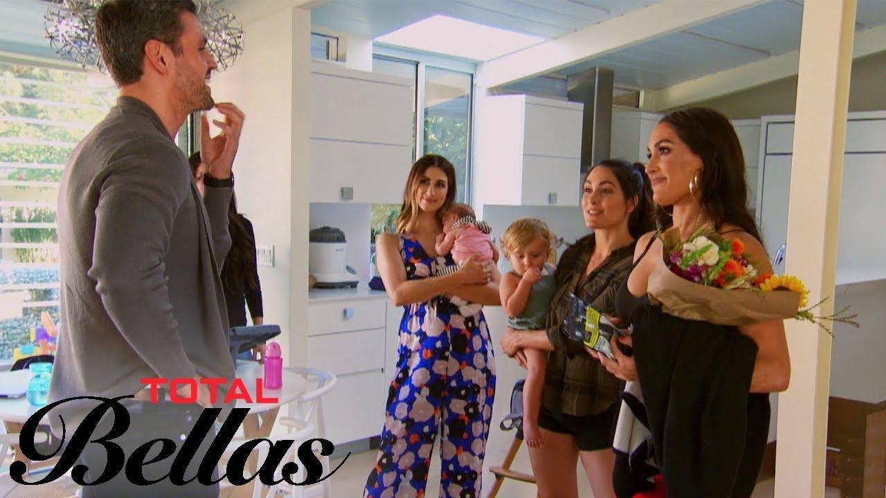 Peter Kraus Brings Nikki Bella Flowers Before Their Date | Total Bellas | E! 3