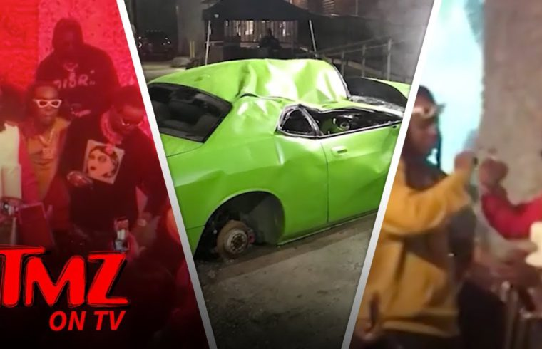 Offset & Cardi Celebrate At Offset's New Album Release Party! | TMZ TV 1