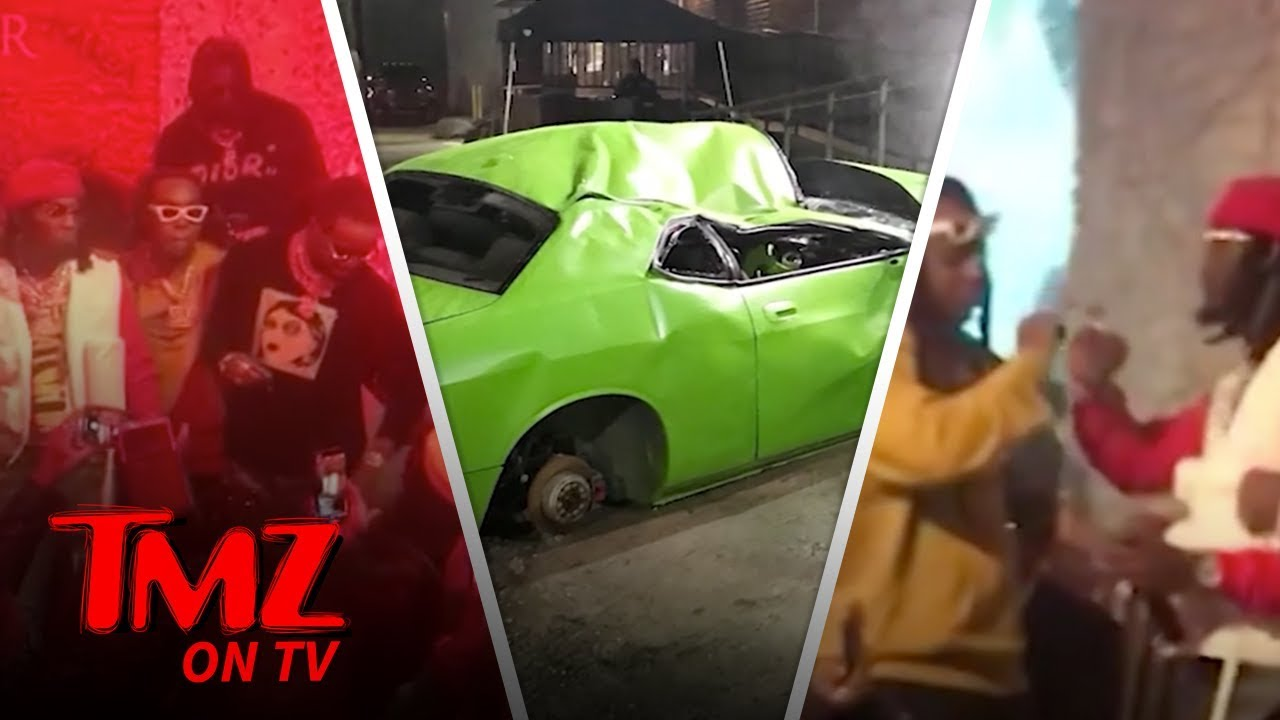 Offset & Cardi Celebrate At Offset's New Album Release Party! | TMZ TV 5