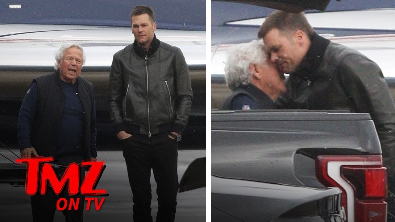 Tom Brady Gives A Warm Hug To Robert Kraft Amidst Allegations | TMZ TV 1