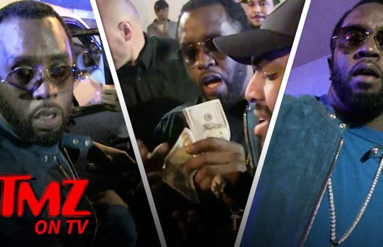 Diddy Throws Money At His Fans! | TMZ TV 1