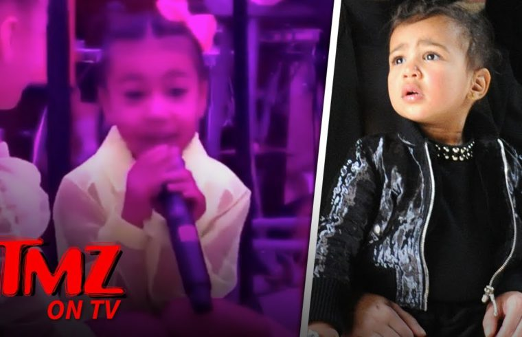 North West Grabs The Mic From Kanye To Sing Her Heart Out! | TMZ TV 1