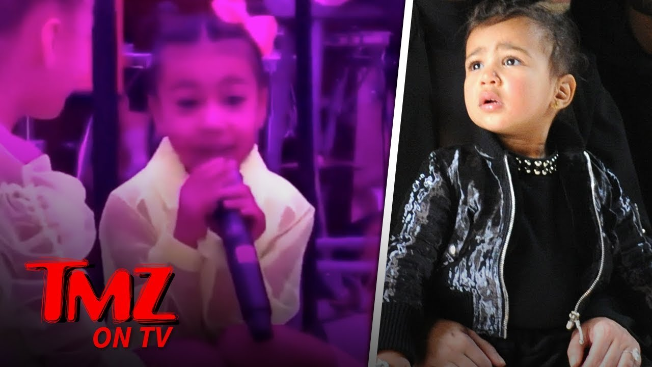 North West Grabs The Mic From Kanye To Sing Her Heart Out! | TMZ TV 5