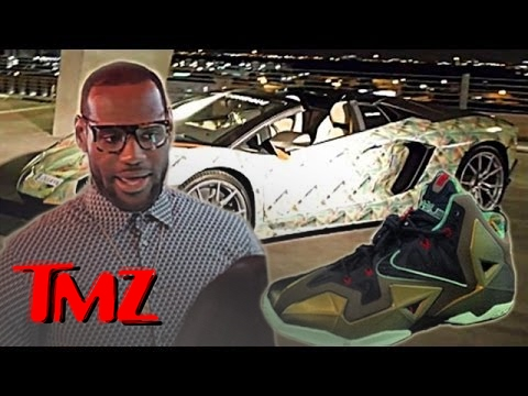 Lebron James Unveils A New Sneaker... And A Matching Lamborghini!! | TMZ 5